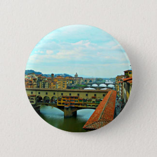 Florence, Italy shopping bridge 2 Inch Round Button