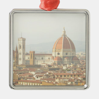 Florence Italy Silver-Colored Square Ornament