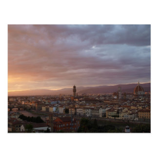 Florence, Italy Sunset Postcard
