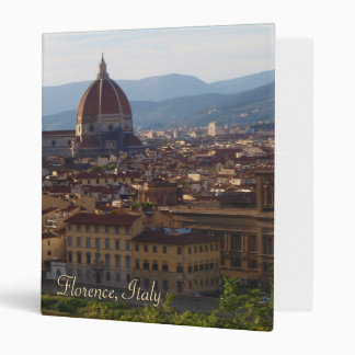 Florence Italy Travel Keepsake 3 Ring Binders