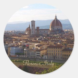 Florence Italy Travel Keepsake Gift Round Sticker