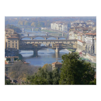 Florence, Italy view from Piazza Michelangelo Poster