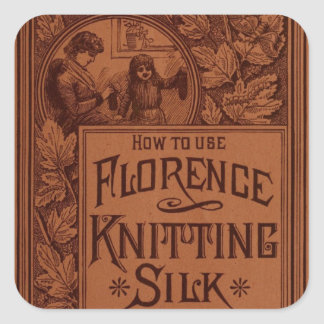 Florence Knitting Silk cover Square Sticker