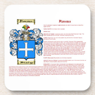 Florence (meaning) coaster