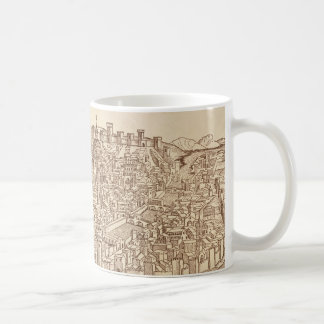 Florence, Medieval Woodcut Classic White Coffee Mug