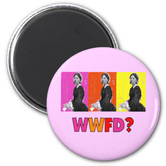 "Florence Nightengale Gifts ""WWFD?"" 2 Inch Round Magnet"
