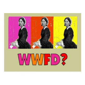 """Florence Nightengale Gifts """"WWFD?"""" Postcards"""