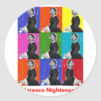 florence nightengale POPART T-Shirts & Gifts Round Sticker