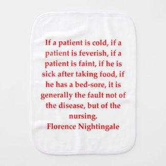florence nightingale burp cloth