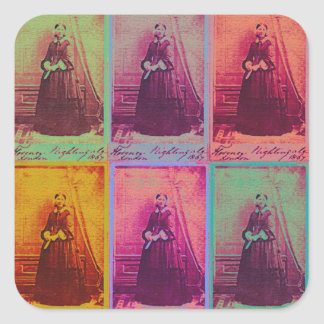 Florence Nightingale Colors Square Sticker