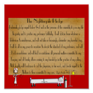 Florence Nightingale Pledge Poster