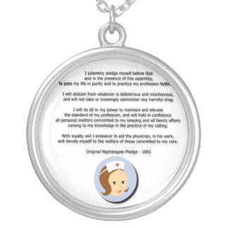 Florence Nightingale Pledge Silver Plated Necklace