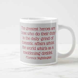 Florence Nightingale Quote Mug, Greatest Heroes Large Coffee Mug