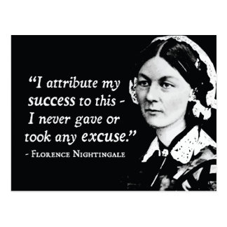 Florence Nightingale Success/Excuses Postcard