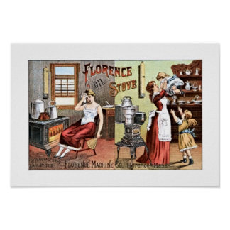 Florence Oil Stove Poster