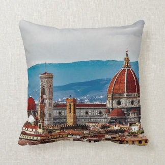 Florence old city, Italy skyline Throw Pillow