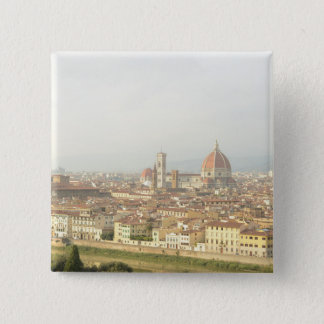Florence or Firenze Italy Cityscape 2 Inch Square Button