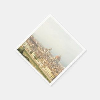 Florence or Firenze Italy Cityscape Paper Napkins
