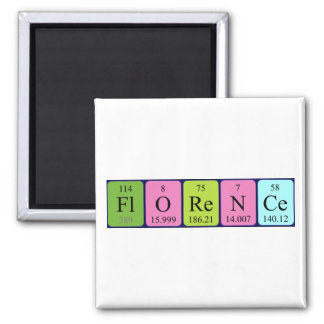 Florence periodic table name magnet