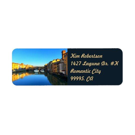 Florence - Ponte Vecchio Return Address Label