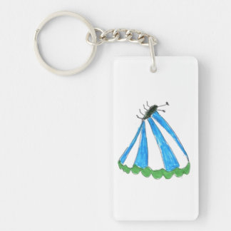 Florence Rectangle (double-sided) Keychain