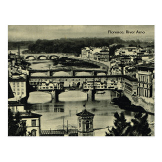 Florence, River Arno Postcard