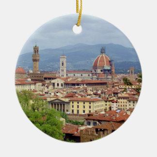 Florence Round Ceramic Ornament