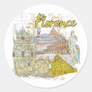 Florence Round Sticker