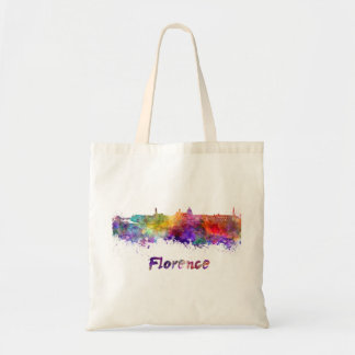 Florence skyline in watercolor tote bag