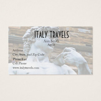 Florence Statue of David With Love Quote Business Card