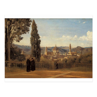 Florence, The Boboli Gardens by Camille Corot Postcard