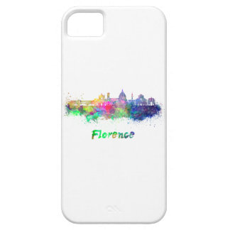 Florence V2 skyline in watercolor iPhone 5 Case