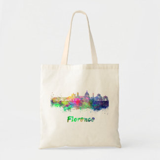 Florence V2 skyline in watercolor Tote Bag