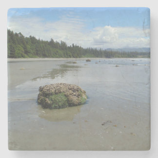 Florencia Bay Beach 1 Stone Coaster