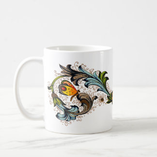 Florentine Floral Butterfly Mug