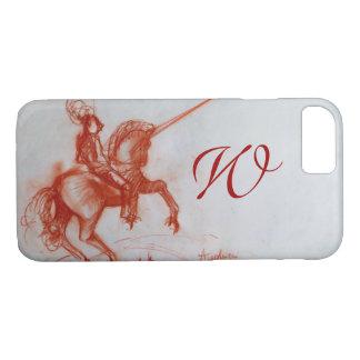 FLORENTINE  KNIGHT ON HORSEBACK Sepia Monogram Case-Mate iPhone Case