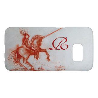 FLORENTINE  KNIGHT ON HORSEBACK Sepia Monogram Samsung Galaxy S7 Case