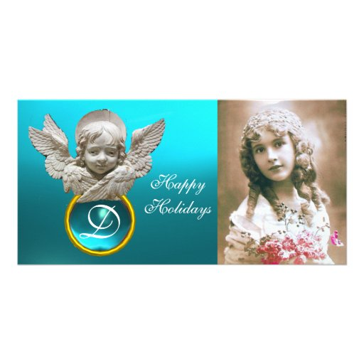 FLORENTINE RENAISSANCE ANGEL Tuquase Gem Monogram Personalized Photo Card