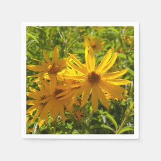 """Flores en mi hierbas """" flowers in my weeds """" paper napkin"""