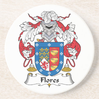 Flores Family Crest Coaster