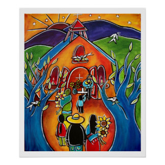 Flores para La Iglesia by Jan Oliver Poster