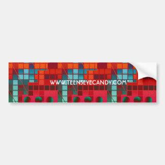 Florescent Abstract Cubes Bumper Sticker