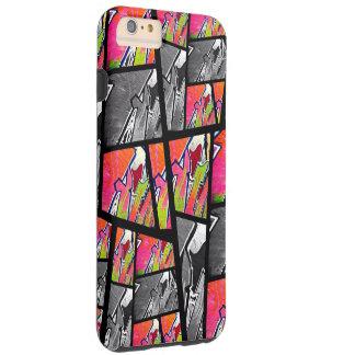 Florescent Black&White Abstract Tough iPhone 6 Plus Case