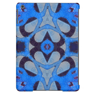Florescent Blue Black Abstract iPad Air Case