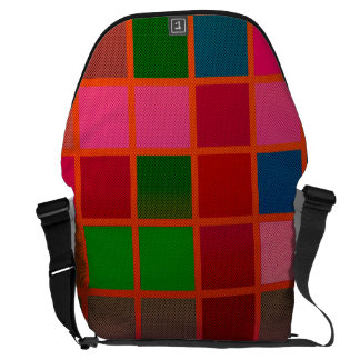 Florescent Cube Pattern Messenger Bag