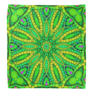 Florescent Green Abstract Bandana