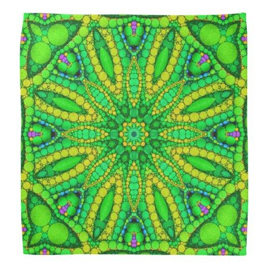 Florescent Green Abstract Bandana