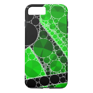 Florescent Green Black Bling Abstract Pattern iPhone 7 Plus Case