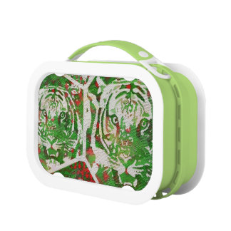 Florescent Green Red Tiger Lunchbox