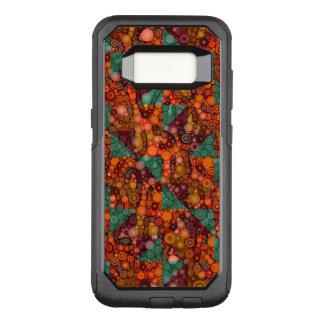 Florescent Orange Abstract Cheetah OtterBox Commuter Samsung Galaxy S8 Case